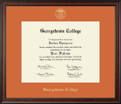 Georgetown College Diploma Frame - Gold Embossed Diploma Frame in Studio