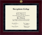 Georgetown College Diploma Frame - Millennium Gold Engraved Diploma Frame in Cordova