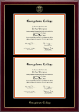 Georgetown College Diploma Frame - Double Diploma Frame in Gallery