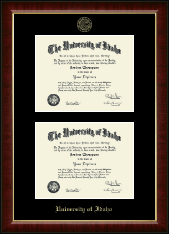 University of Idaho Diploma Frame - Double Diploma Frame in Murano