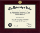 University of Idaho Diploma Frame - Century Gold Engraved Diploma Frame in Cordova