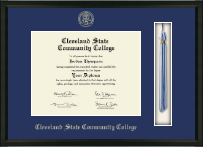Cleveland State Community College Diploma Frame - Tassel Edition Diploma Frame in Omega