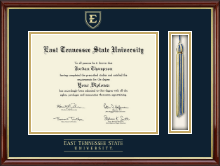 East Tennessee  State University Diploma Frame - Tassel Edition Diploma Frame in Southport Gold