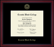 Gold Embossed Achievement Academy Diploma Frame