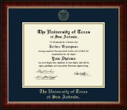 The University of Texas San Antonio Diploma Frame - Gold Embossed Diploma Frame in Murano
