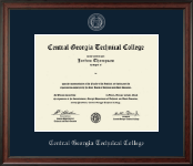 Central Georgia Technical College Diploma Frame - Silver Embossed Diploma Frame in Studio