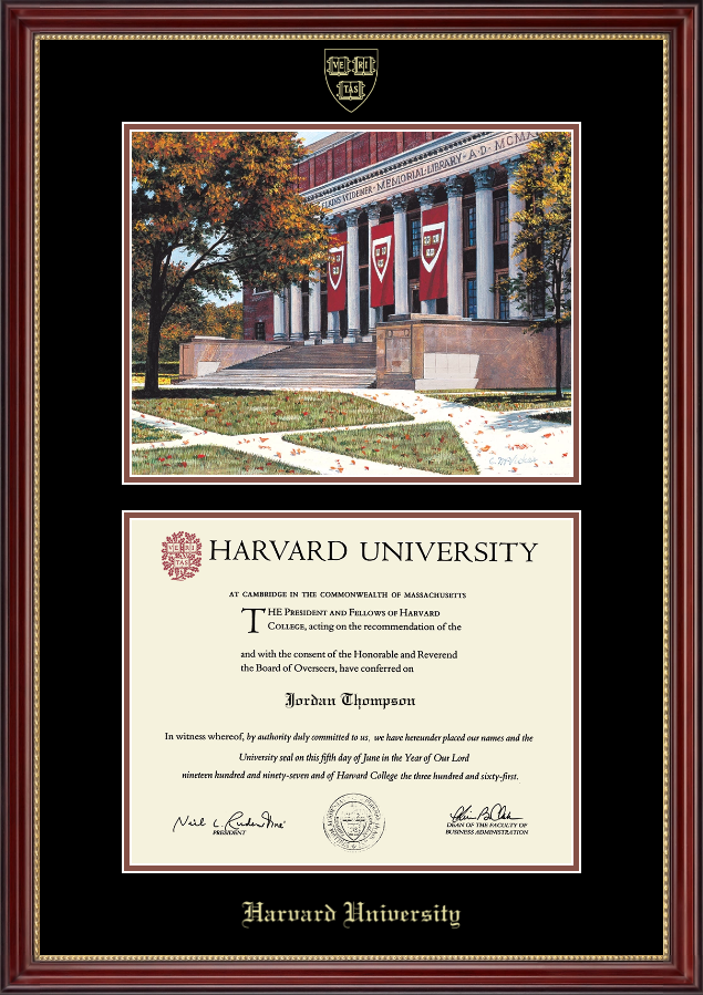 Fancy Harvard Diploma Frame Image Collection - Custom Picture Frame ...