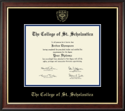 The College of St. Scholastica Diploma Frame - Gold Embossed Diploma Frame in Studio Gold