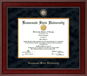 Kennesaw State University Diploma Frame - Presidential Masterpiece Diploma Frame in Jefferson
