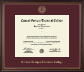 Central Georgia Technical College Diploma Frame - Gold Embossed Diploma Frame in Studio Gold