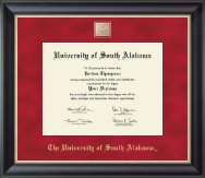 University of South Alabama Diploma Frame - Regal Edition Diploma Frame in Noir