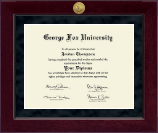 George Fox University Diploma Frame - Millennium Gold Engraved Diploma Frame in Cordova