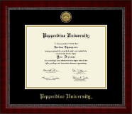 Pepperdine University Diploma Frame - Gold Engraved Medallion Diploma Frame in Sutton
