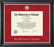 The University of Alabama Tuscaloosa Diploma Frame - Regal Edition Diploma Frame in Noir