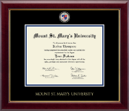 Mount St. Mary's University Diploma Frame - Masterpiece Medallion Diploma Frame in Gallery