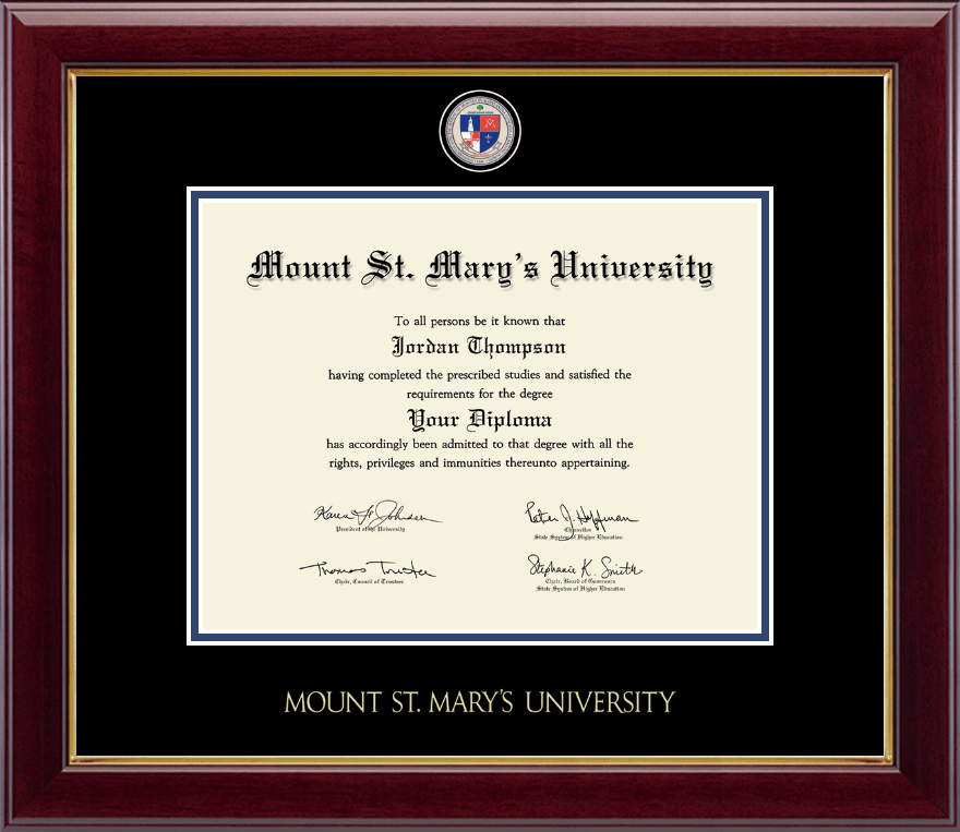 Mount St Mary S University Masterpiece Medallion Diploma
