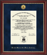 United States Air Force Academy Diploma Frame - Gold Engraved Medallion Diploma Frame in Kensington Gold