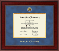Boise State University Diploma Frame - Presidential Gold Engraved Diploma Frame in Jefferson