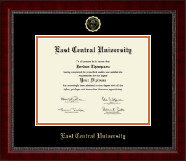 East Central University Diploma Frame - Gold Embossed Diploma Frame in Sutton