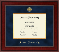 Aurora University Diploma Frame - Presidential Gold Engraved Diploma Frame in Jefferson