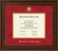 Benedictine University Diploma Frame - Presidential Gold Engraved Diploma Frame in Madison
