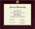 Century Gold Engraved Diploma Frame