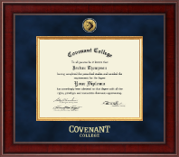 Covenant College Diploma Frame - Presidential Gold Engraved Diploma Frame in Jefferson