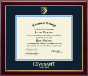Covenant College Diploma Frame - Gold Embossed Diploma Frame in Gallery