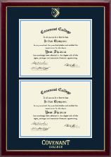 Covenant College Diploma Frame - Double Diploma Frame in Gallery