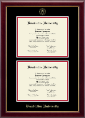 Benedictine University Diploma Frame - Double Diploma Frame in Gallery