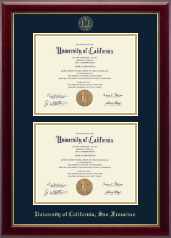 University of California San Francisco Diploma Frame - Double Diploma Frame in Gallery
