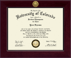 University of Colorado Denver Diploma Frame - Century Gold Engraved Diploma Frame in Cordova