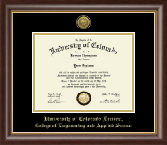 University of Colorado Denver Diploma Frame - Gold Engraved Medallion Diploma Frame in Prescott