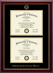 University of Colorado Denver Diploma Frame - Double Diploma Frame in Gallery