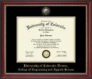 University of Colorado Denver Diploma Frame - Masterpiece Medallion Diploma Frame in Kensington Gold