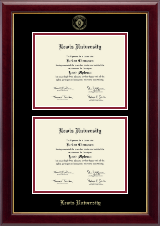 Lewis University Diploma Frame - Double Diploma Frame in Gallery