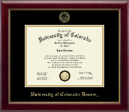 University of Colorado Denver Diploma Frame - Gold Embossed Diploma Frame in Gallery