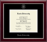 Lewis University Diploma Frame - Silver Embossed Diploma Frame in Gallery Silver