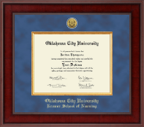 Oklahoma City University Diploma Frame - Presidential Gold Engraved Diploma Frame in Jefferson