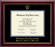 Oklahoma City University Diploma Frame - Gold Embossed Diploma Frame in Gallery