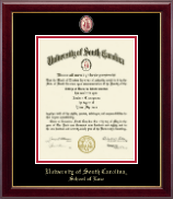 University of South Carolina School of Law Diploma Frame - Masterpiece Medallion Diploma Frame in Gallery