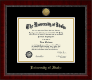 University of Idaho Diploma Frame - Gold Engraved Medallion Diploma Frame in Sutton