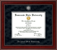 Kennesaw State University Diploma Frame - Presidential Pewter Masterpiece Diploma Frame in Jefferson