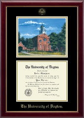 University of Dayton Diploma Frame - Campus Scene Diploma Frame in Gallery