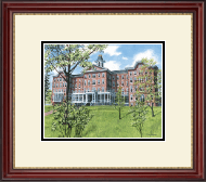 Indiana University of Pennsylvania Lithogrpah Frame - Framed Lithograph in Kensington Gold