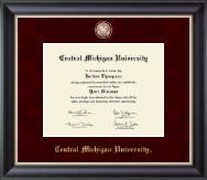 Central Michigan University Diploma Frame - Regal Edition Diploma Frame in Noir