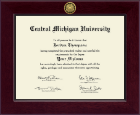 Central Michigan University Diploma Frame - Century Gold Engraved Diploma Frame in Cordova