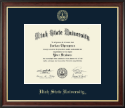 Utah State University Diploma Frame - Gold Embossed Diploma Frame in Studio Gold