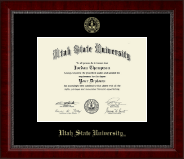 Utah State University Diploma Frame - Gold Embossed Diploma Frame in Sutton