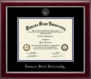 Kansas State University Diploma Frame - Silver Embossed Diploma Frame in Gallery Silver